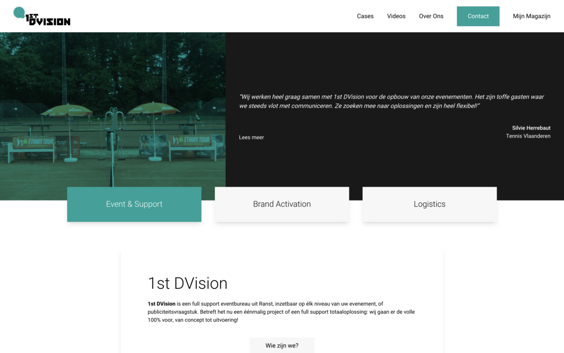 1st DVision website